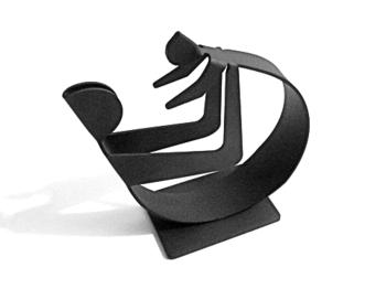 Sculpture danoise Winckler en acier