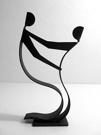 sculpture danoise acier Winckler
