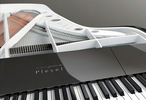 Piano design Peugeot Pleyel clavier