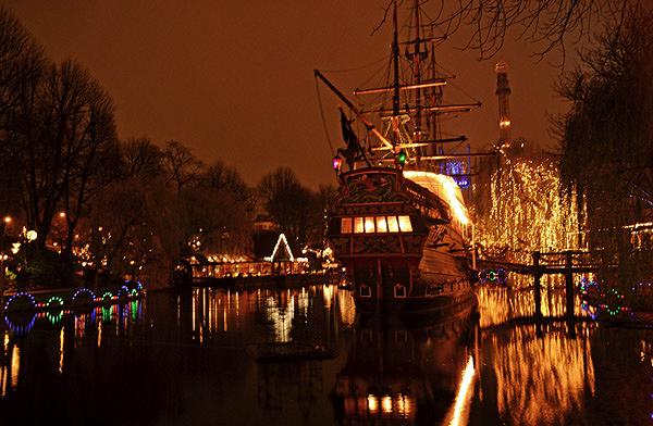 Bâteau pirate du jardin Tivoli Copenhague