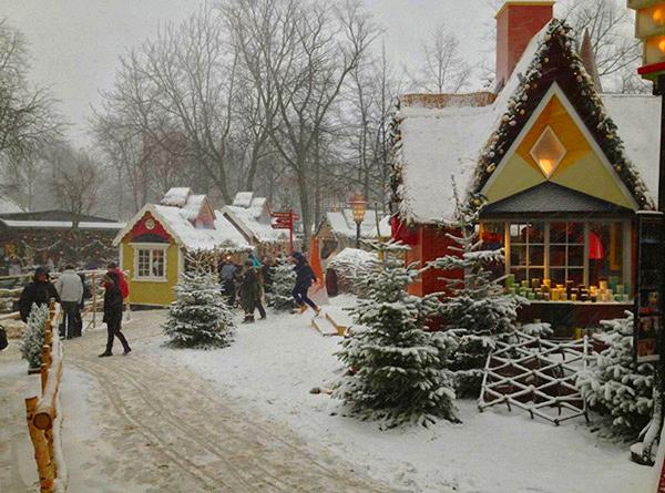 Jardins de Tivoli à Noël
