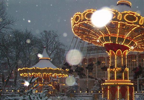 Parc Tivoli à Noël Danemark