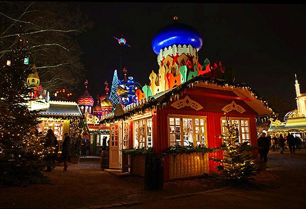 Jardins du Tivoli à Noël