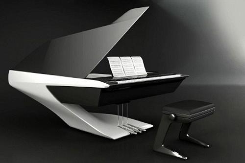 Piano design Peugeot Pleyel avec tabouret