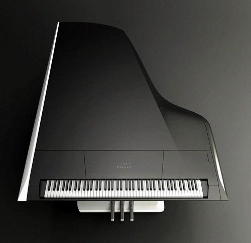 Piano design Peugeot Pleyel vu du haut