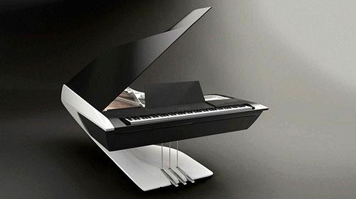 Piano design Peugeot Pleyel ouvert face