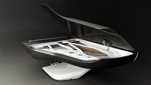 Piano design Peugeot Pleyel ouvert
